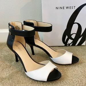 NINE WEST Black and White Heels
